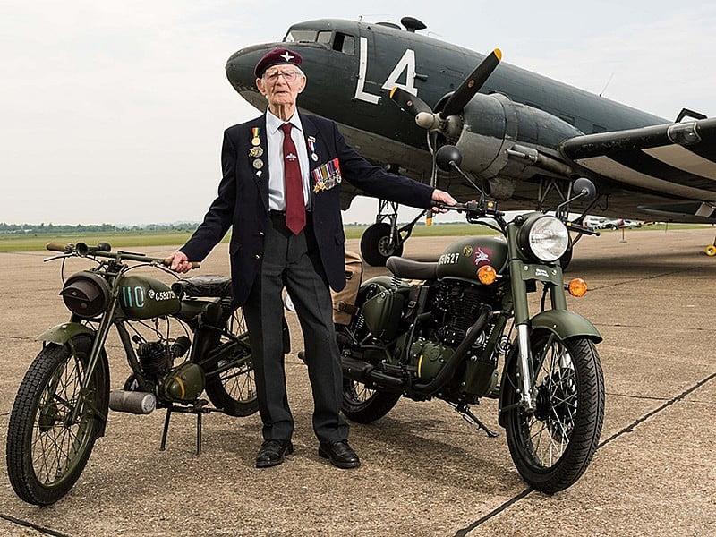 Veterano con Royal Enfield Pegasus